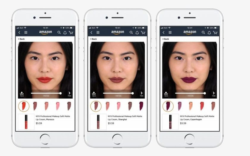 Amazon permet de tester du maquillage virtuellement