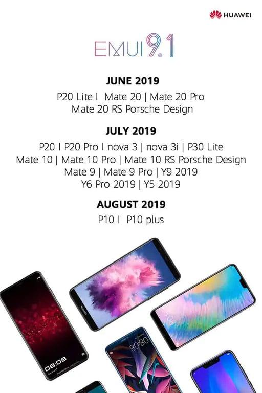 EMUI 9 1 : Mate 20, P20    Huawei révèle la date de sortie