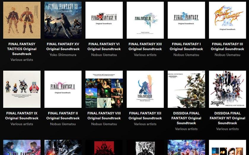 Final Fantasy 7, 10, 15, toutes les bandes son disponible sur Spotify et Apple Music