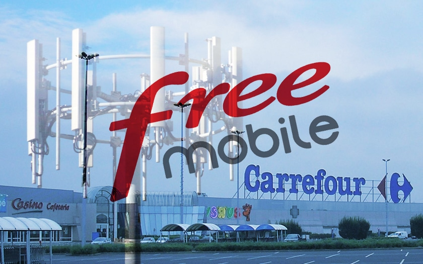 Free Mobile parking Carrefour