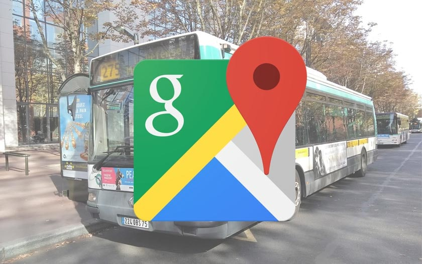 google maps bus