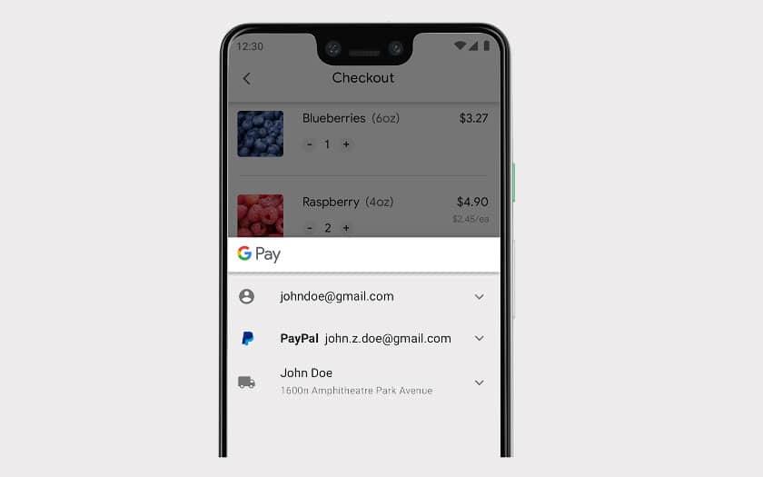 Google Pay avec Paypal