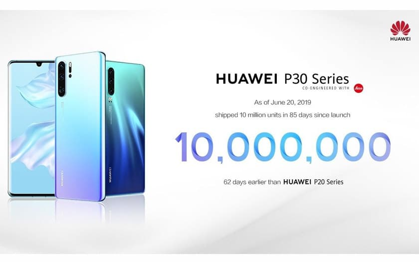 huawei vendu 10 millions p30 3 mois