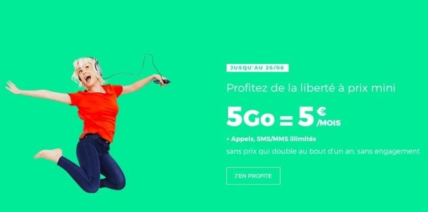 red by sfr 5 Go à 5 euros par mois