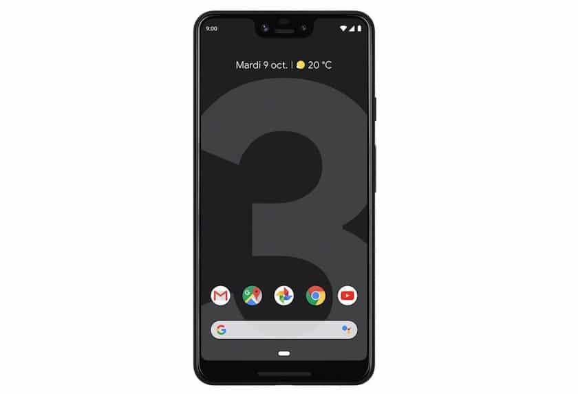 smartphone Google Pixel 3 XL noir 64 Go à 599 €