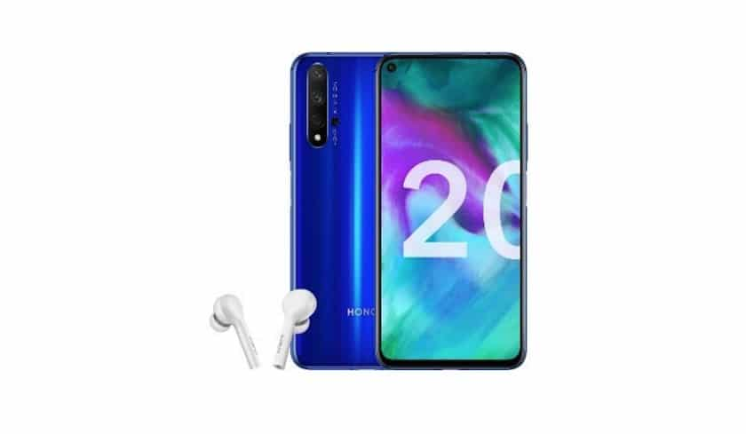 smartphone Honor 20 bleu 128 Go à 499 €