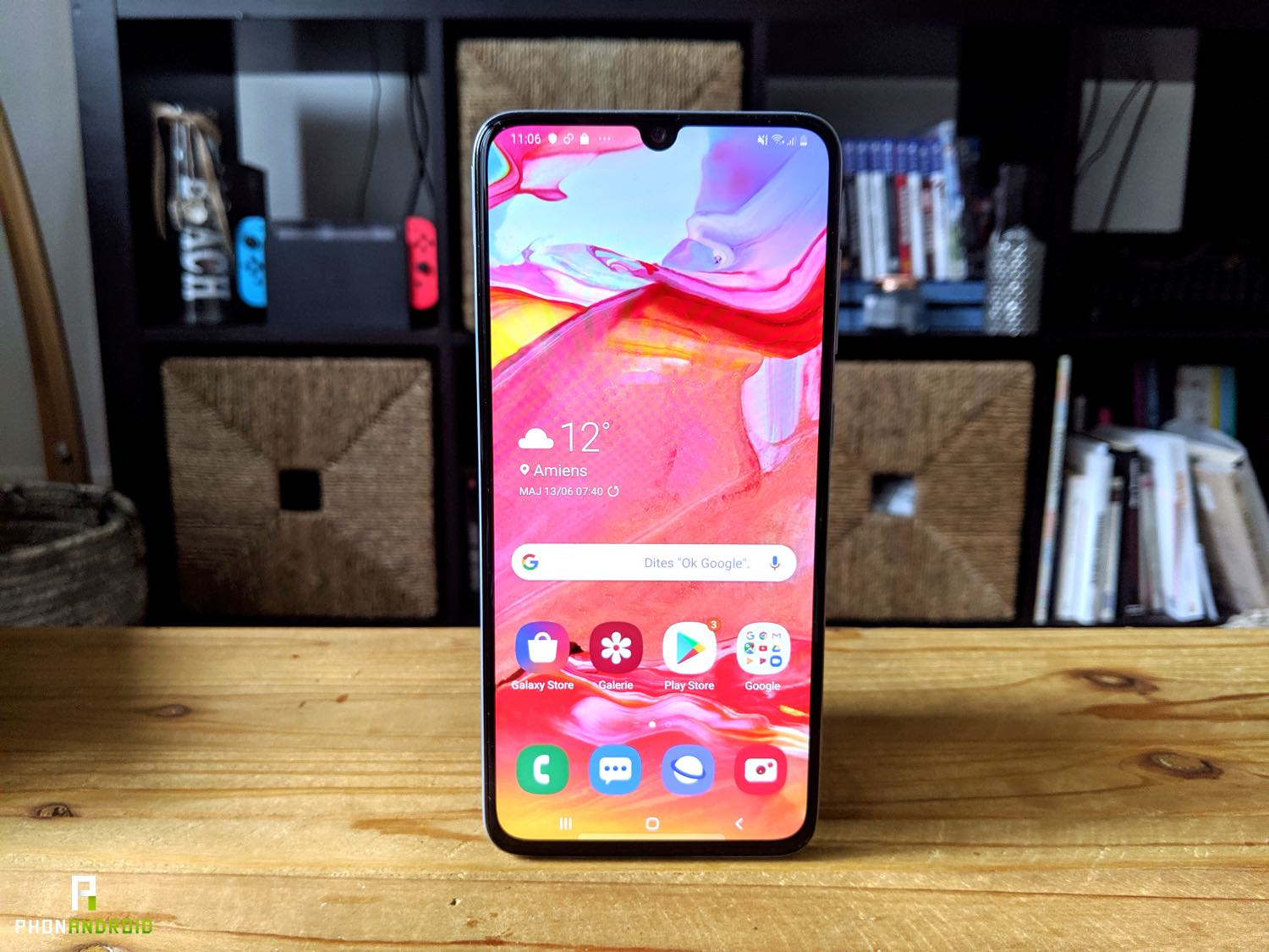 test samsung galaxy a70 design ecran