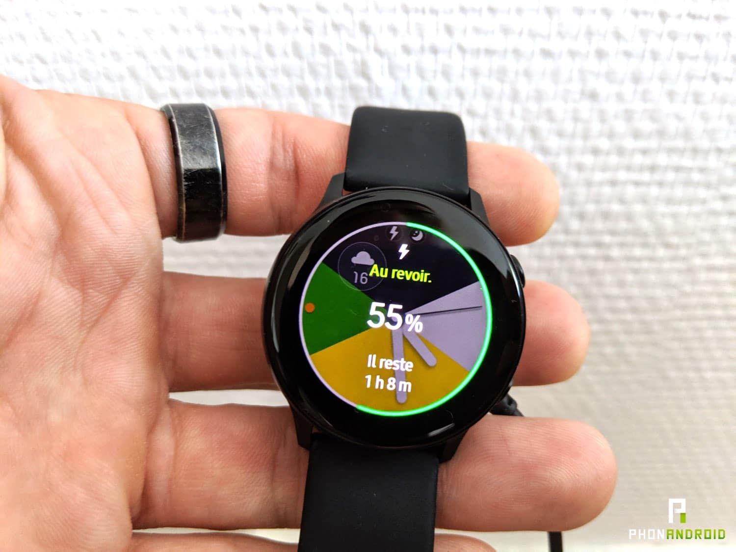 test samsung galaxy watch active autonomie