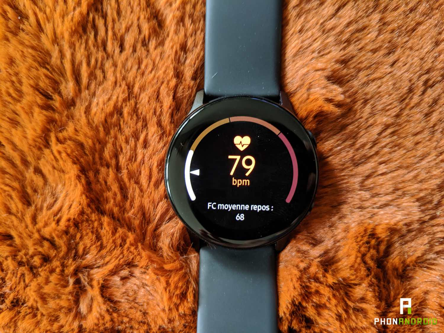 test samsung galaxy watch active frequence cardiaque