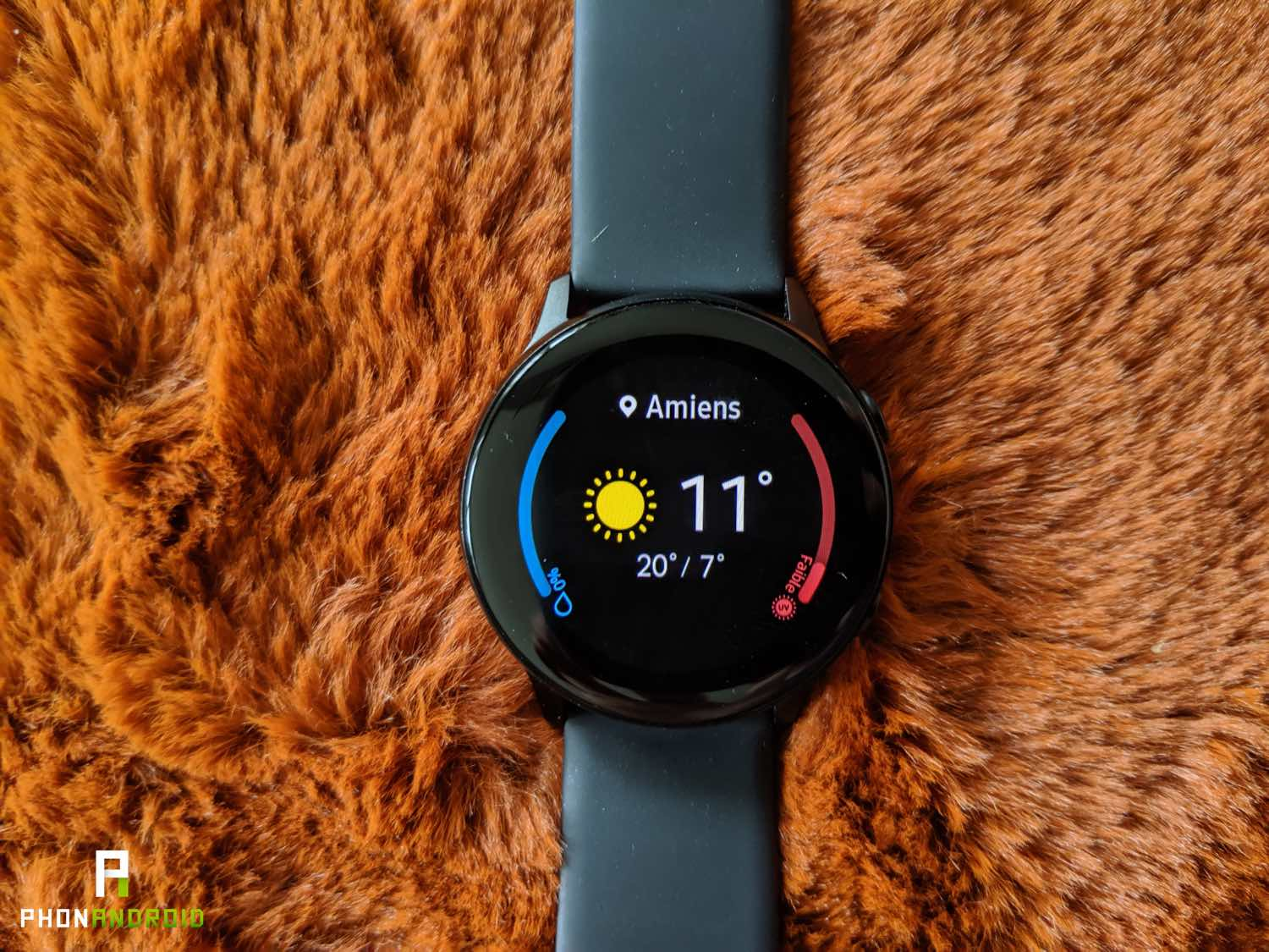 test samsung galaxy watch active meteo