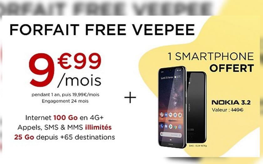 vente privée free mobile forfait 100go