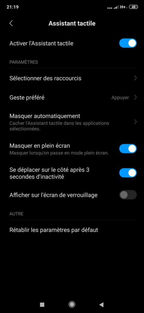 Mi 9T interface