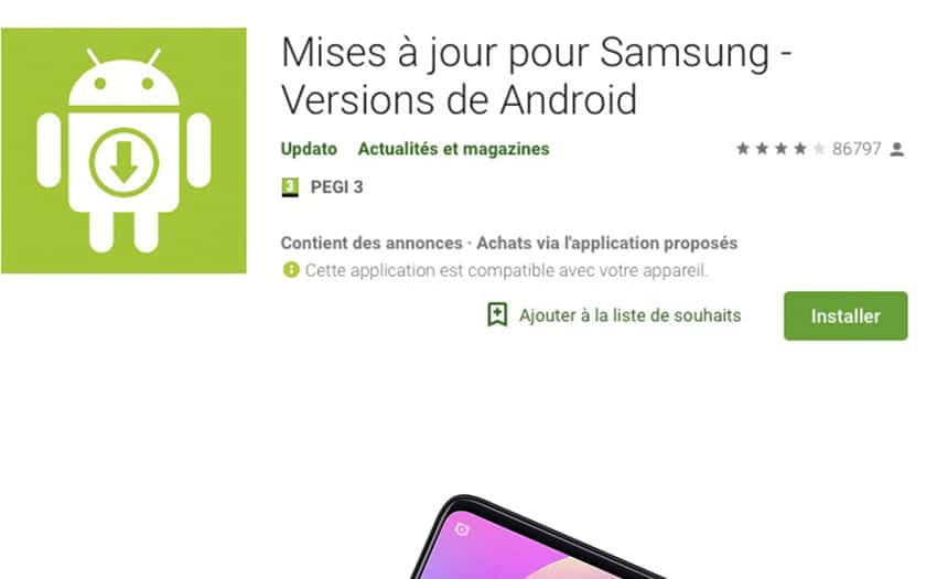 android fausse application samsung installées 10 millions fois