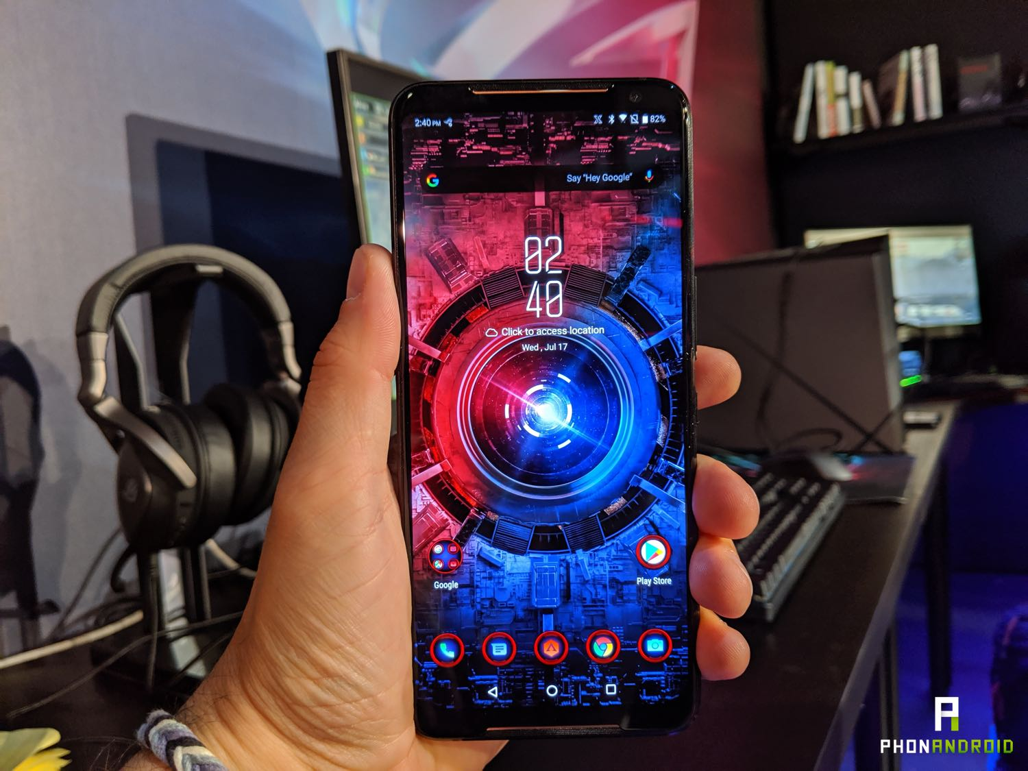 asus rog phone 2 interface