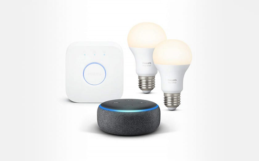 echo dot kit de demarrage philips hue white