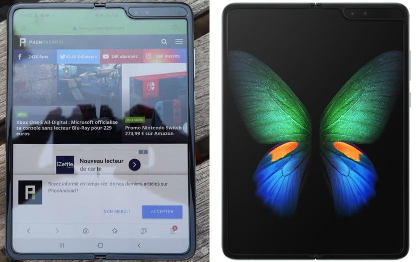 Galaxy Fold comparaison avant et après modifications