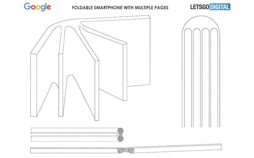 Google brevette un smartphone pliable bizarre avec plusieurs écrans reliés comme les pages d'un livre