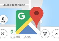 google maps compteur
