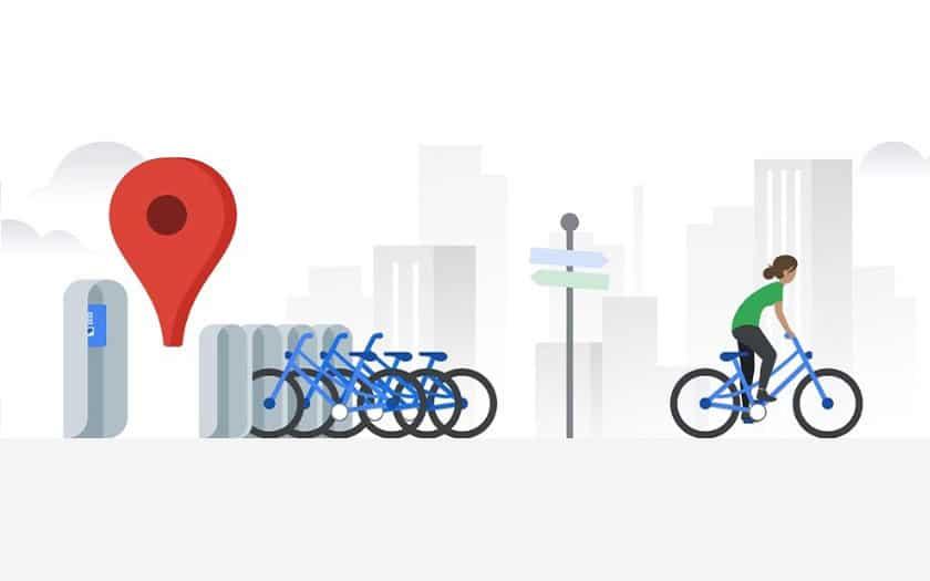 Google Maps affiche les stations de vélos en service libre