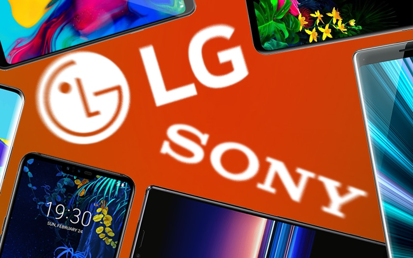 LG Sony ventes de smartphones