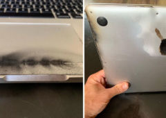 macbook pro batterie feu