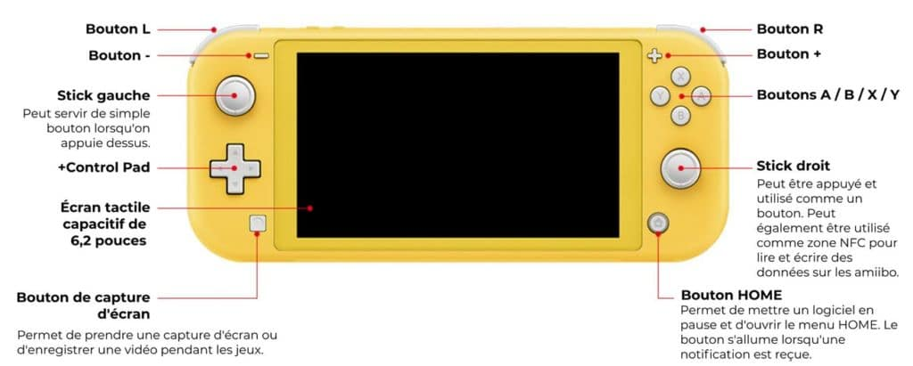 nintendo switch lite controles