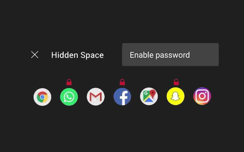 OnePlus mot de passe tiroir secret