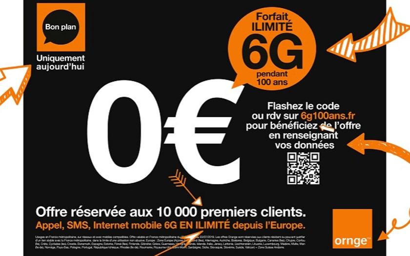 Orange Forfait illimité 6G 100 ans