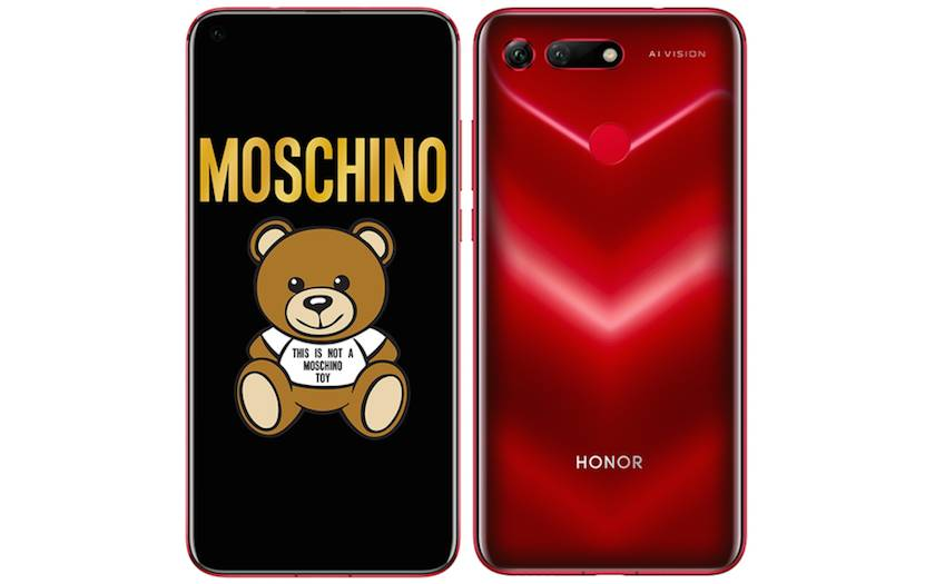 smartphone Honor View 20 rouge Moschino à 399€