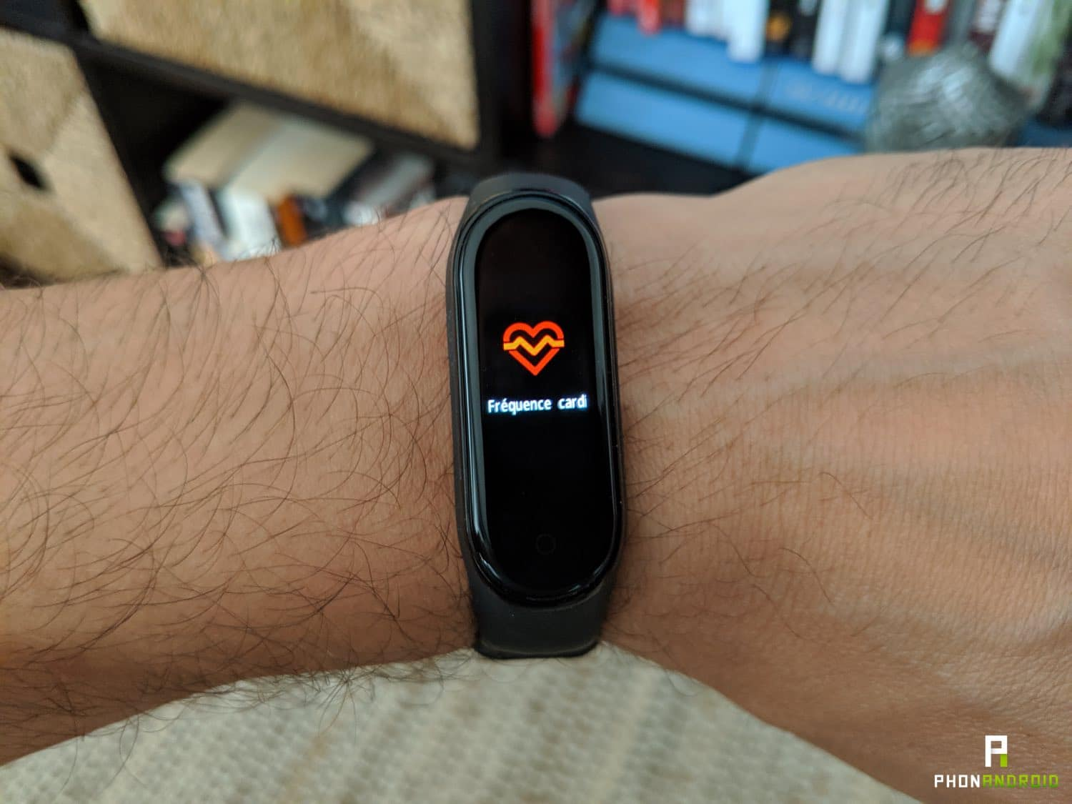 test xiaomi mi band 4 frequence cardiaque