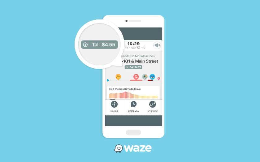Prix des postes de péages dans Waze