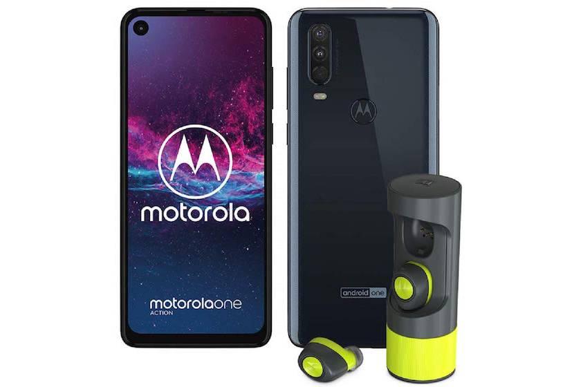 Motorola One Action (128 Go) avec écouteurs VerveOnes + ME à 289,99€