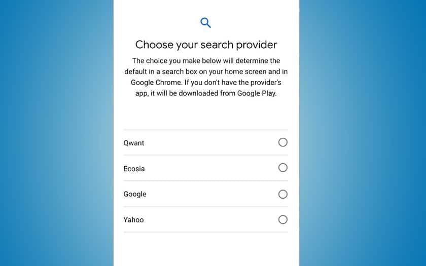 android google faire payer moteurs recherche défaut