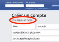 facebook rapide facile