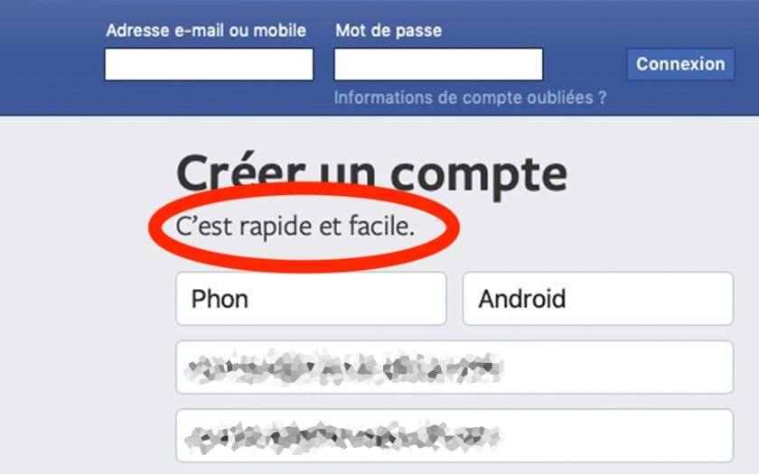 Facebook rapide et facile