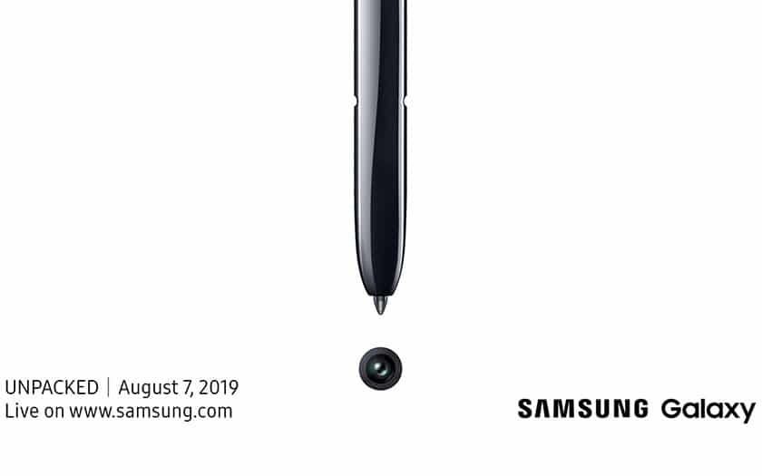 Conference Unpacked Samsung Galaxy Note 10 en direct
