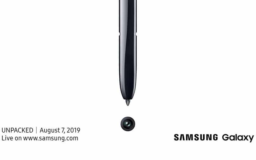 Conférence décompressée Samsung Galaxy Note 10 Live