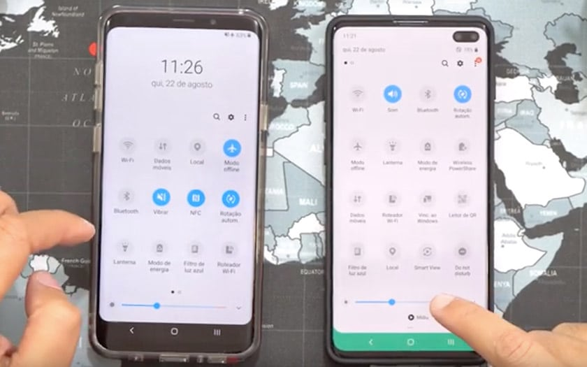 galaxy s10 mise jour android 10 one ui 2 samsung vidéo