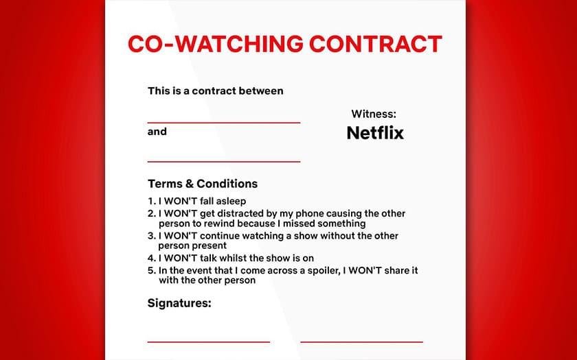 netflix signer contrat bonne conduite regarde tv vous