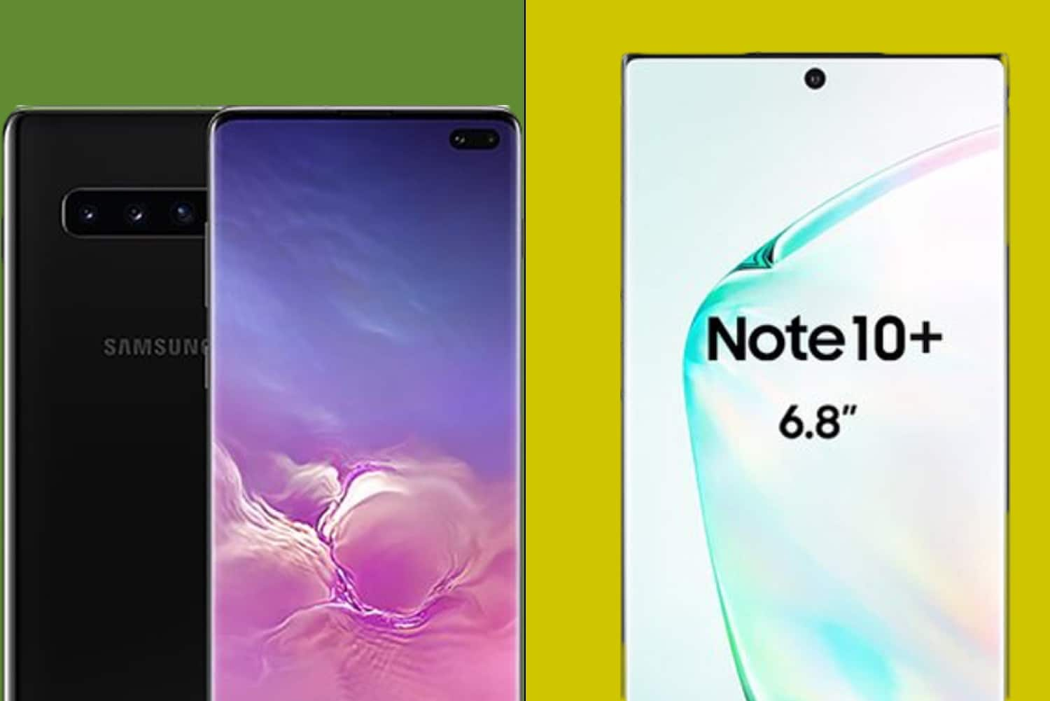 note 10 plus vs s10 plus