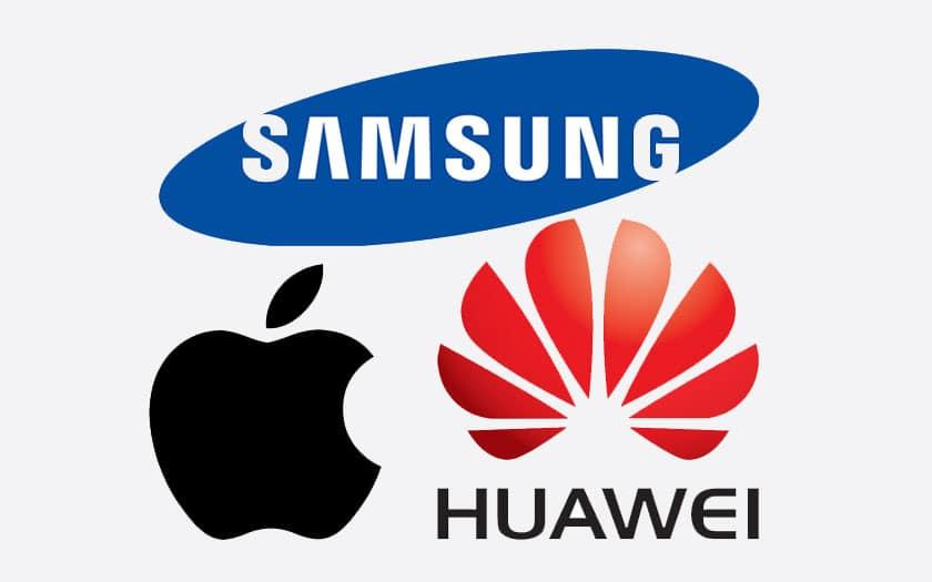 Ventes iPhone, Huawei, Samsung
