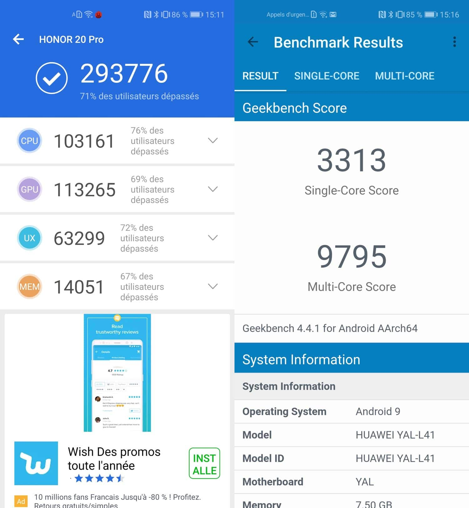 test honor 20 pro benchmarks