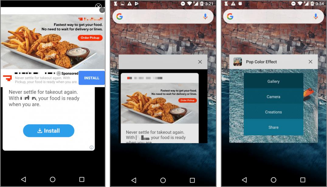 Google Play Store Application Malveillante