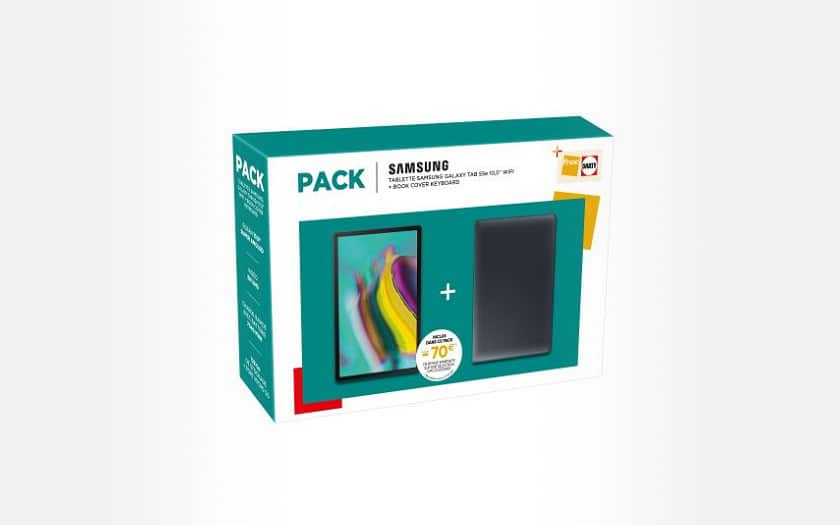 Pack-Tablette-Samsung-Galaxy-Tab-S5e-10-5-128-Go-WiFi-Noir-Book-Cover-Keybord-Noir