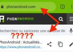 chrome android url barre adresses