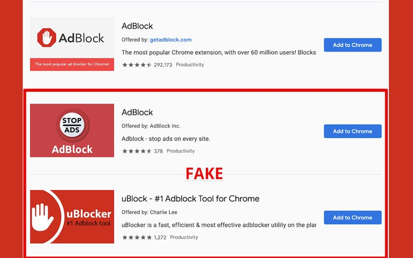 chrome web store extensions adblock faux