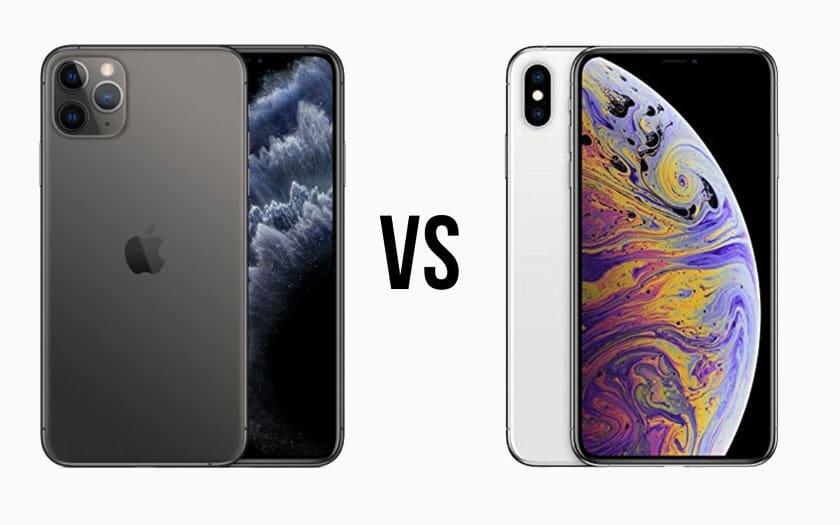 Comparatif iPhone 11 Pro Max vs iPhone XS Max