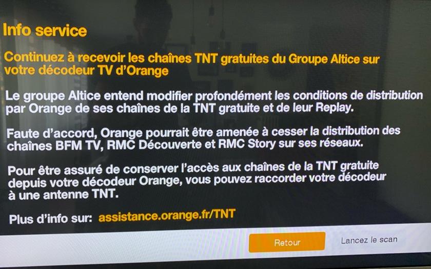 Orange Altice BFM TV RMC