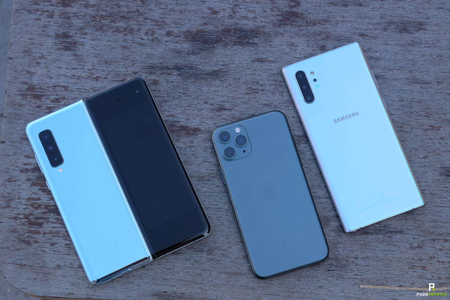 test iphone 11 pro vs fold vs note 10