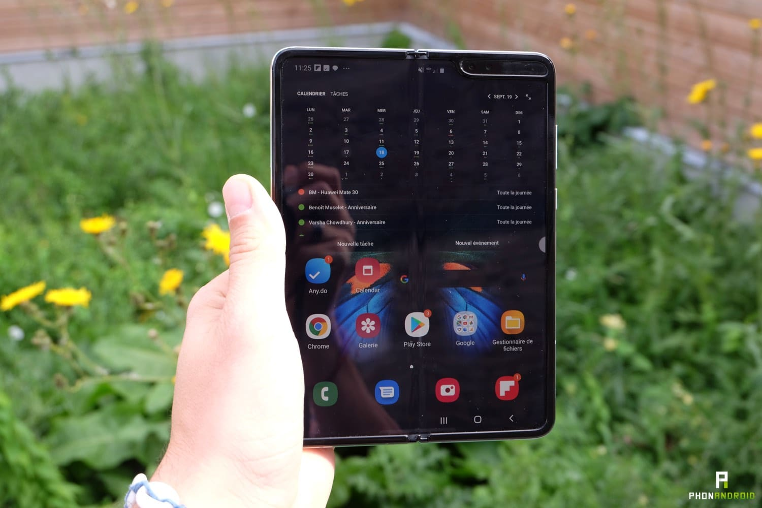 test samsung galaxy fold ecran renforce